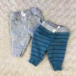 Carter's Newborn Pants Bundle Blue Stripes Gray